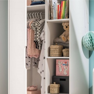 Armoire double Blanche collection Maxime