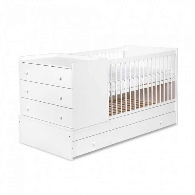 lit b b volutif compact avec commode int gr e. Black Bedroom Furniture Sets. Home Design Ideas