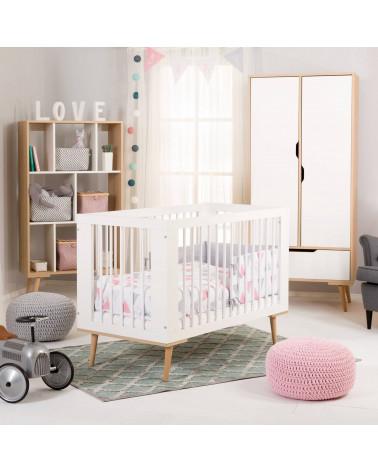 Chambre bébé scandinave Sofie blanche et hêtre