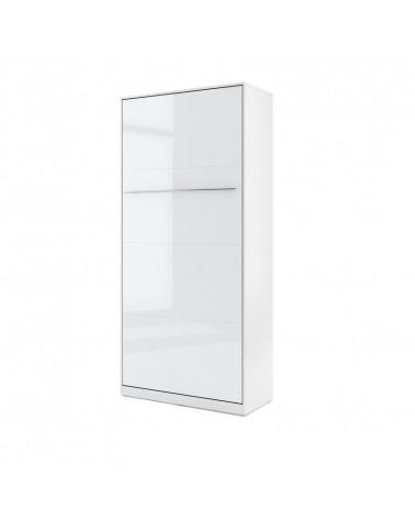 Lit armoire escamotable blanc 90x200