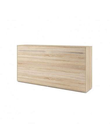 Lit armoire escamotable horizontal - chêne 90x200