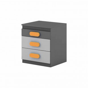 Caisson de bureau orange Play