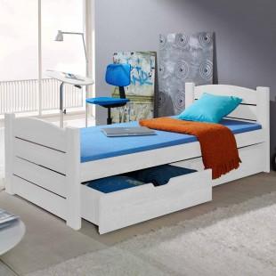 Lit Enfant Roma 180 x 80 couleur blanc avec tiroirs