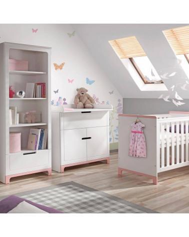 Commode blanche avec plan à langer Mini pour chambre bébé
