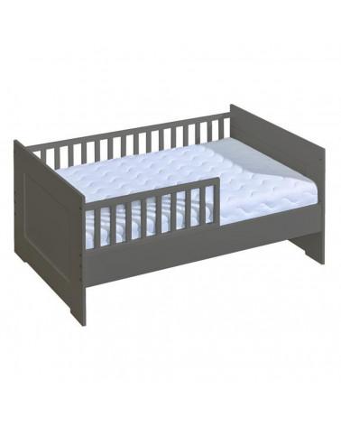 Mon premier lit junior 70x140cm graphite pour chambre enfant