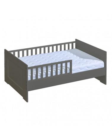 Mon premier lit junior 70x160cm graphite avec tiroir pour chambre enfant