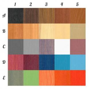 Damier de couleurs pour le lit superposé Jack