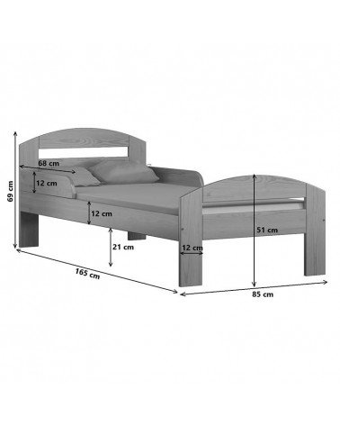 Dimensions du lit junior Timi 80x160
