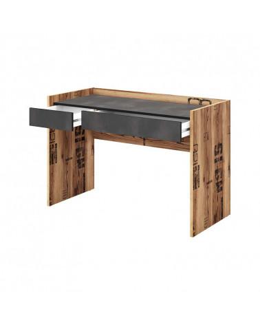 Bureau design Fargo pour chambre ado avec tiroir ouvert