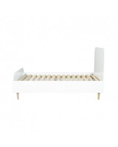 Lit junior blanc et bois SCANDI 160x80 cm pour chambre enfant