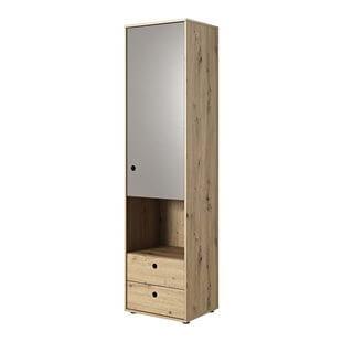 Armoire une porte KUKO en chêne artisan et gris pour chambre ado