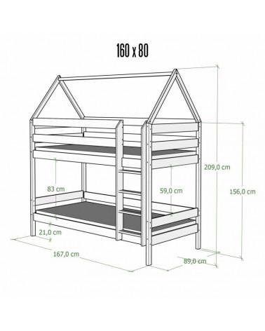 Dimensions extérieures 80x160 cm