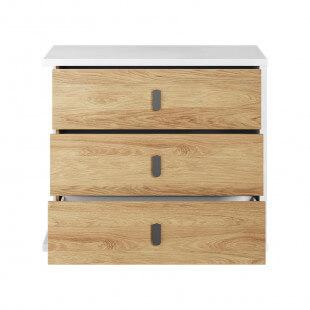 Commode MASSI avec 3 tiroirs de rangement