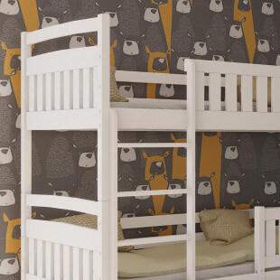 Lit superposé 3 couchages séparable BLANCA 90x190 en blanc