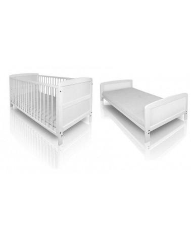 Lit Bébé Évolutif en lit junior - Blanc
