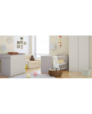 Chambre bébé avec une Armoire 2PIR Fille ou Garçon - Baby Vox