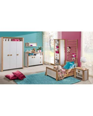 Chambre enfant avec une Armoire Lara trois portes Chêne
