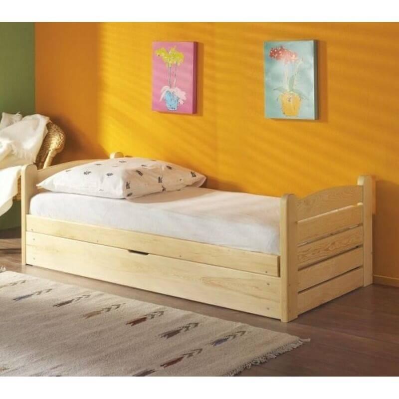 lit enfant ola couleur pin avec coffre de rangement. Black Bedroom Furniture Sets. Home Design Ideas