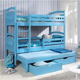 Lit enfant superposé Jack III avec lit gigogne - 3 couchages