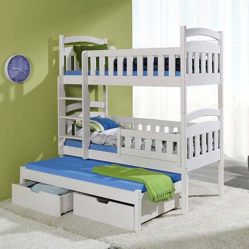 Lit enfant superpos domi iii avec lit gigogne 3 couchages - Lit superpose avec lit gigogne ...