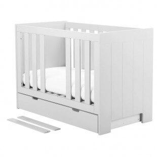 Lit Bébé Calmo 60 cm x 120 cm - Blanc
